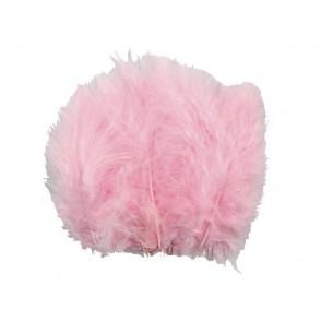 Perje, svetlo roza