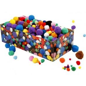 Pom-pomi, mešane barve