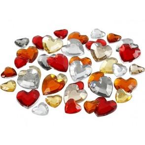 Dekorativni kamenčki, rdeča harmonija, srčki