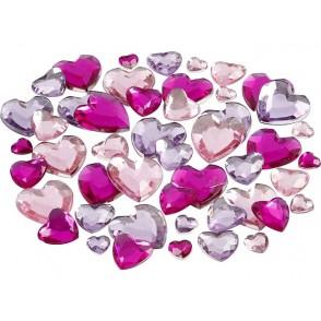 Dekorativni kamenčki, vijola srčki