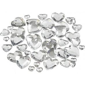 Dekorativni kamenčki, srebrni srčki
