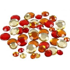Dekorativni kamenčki, rdeča harmonija, kroci