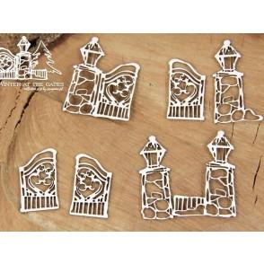 Izrezek, chipboard, Lesena dekoracija,  Winter at the gates, mala vrata