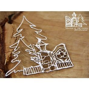 Izrezek, chipboard, Lesena dekoracija, Winter at the gates, dekor