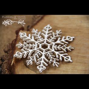 Chipboard, Flowers of Winter, snežinka