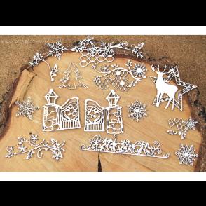 Chipboard, DIY set za ustvarjanje, ALBUM Old Fashioned Christmas