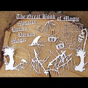 Chipboard, DIY set za ustvarjanje, The great book of magic