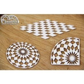 Izrezek, chipboard, Lesena dekoracija, Wonderland, chessboard floors