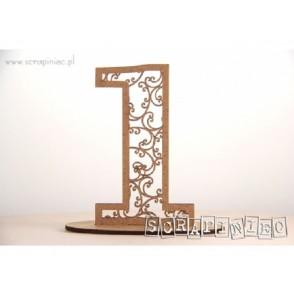 Številka, stoječa, monogram, HDF - 1