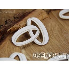 Izrezek, chipboard, Love in 3D, poročna prstana