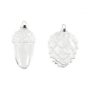Steklena bunkica, novoletni okrasek, 2 različne oblike