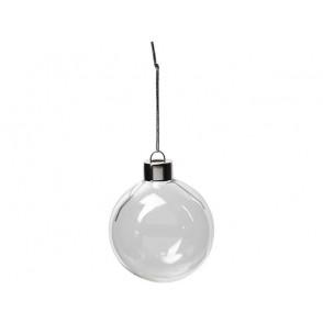 Steklena krogla, novoletni okrasek, 6 cm