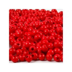 Perle, lesene, rdeče