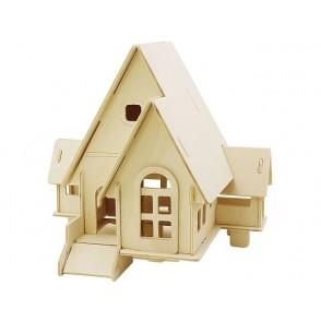 3D lesena konstrukcija, hiša