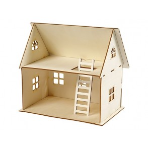 3D lesena konstrukcija, hiša za punčke
