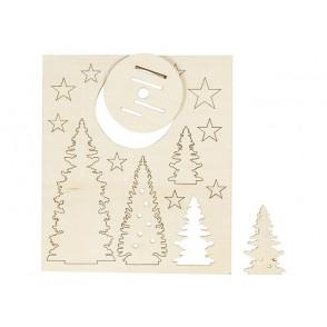 Izrezek, Božična dekoracija drevesa