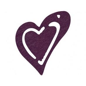 Leseni srčki, vijola
