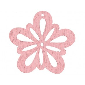 Lesena dekoracija, Rožice, roza
