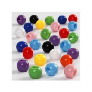 Perle, mix, z luknjo 4 mm
