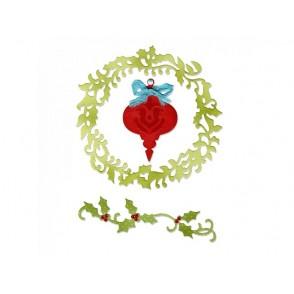 Rezalna šablona, Christmas Ornament, Wreath & Vine