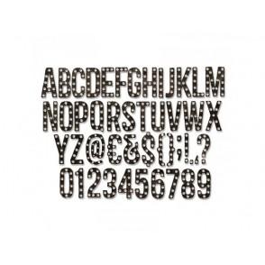 Rezalna šablona, Alphanumeric Marquee