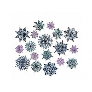 Rezalna šablona, Swirly snowflakes