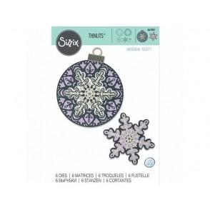 Rezalna šablona, Layered Snowflake