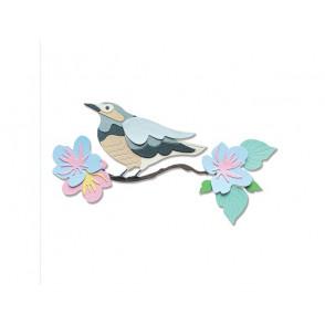 Rezalna šablona, Thinlits, Spring Bird