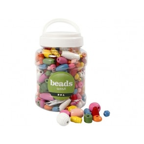Perle, lesene, barvni mix