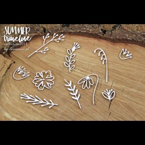 Izrezek, chipboard, Lesena dekoracija, Summer travelove, rože