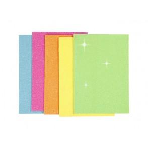 EVA Foam, z bleščicami, neon barve