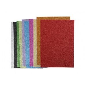 EVA Foam, z bleščicami, mix barv