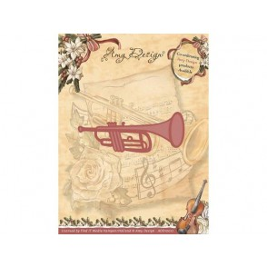 Rezalna šablona, Vintage Christmas, Trumpet
