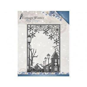 Rezalna šablona, Vintage Winter, Village Frame Straight