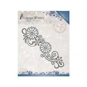 Rezalna šablona, Vintage Winter, Snowflake Swirl Border