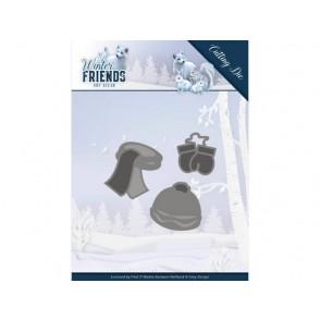 Rezalna šablona, Winter Friends, Warm Winter Clothes