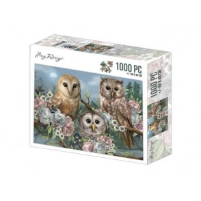Puzzle, Jigsaw, Amy Design, Romantic Owls