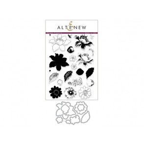 Rezalna šablona in štampiljka, Garden Treasure, Altenew