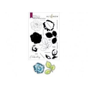 Rezalna šablona in štampiljka, Build a flower: Bellaroma Hybrid Tea Rose Layering