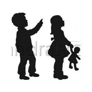 Rezalna šablona, Deček in deklica