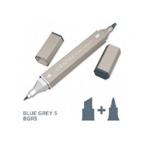 Marker Graphic, Blue grey 5