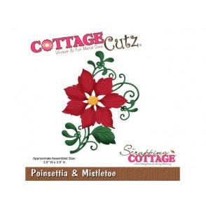 Rezalna šablona, Poinsettia & Mistletoe