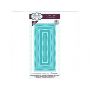 Rezalna šablona, Slimline Decorative squared rectangles
