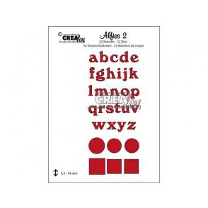 Rezalna šablona, Lowercase letters, št. 2