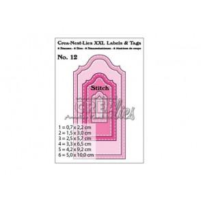 Rezalna šablona, Crea-Nest-Lies XXL Labels & Tags št. 12