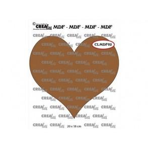 Lesena osnova, MDF, srce