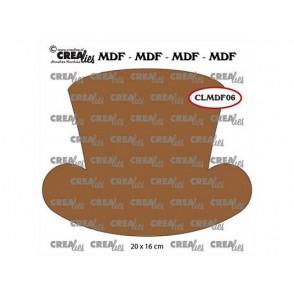 Lesena osnova, MDF, ženski klobuk