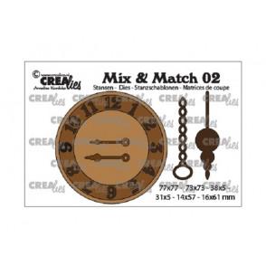 Rezalna šablona, Mix and Match, št. 2, clock