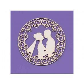 Izrezki, Poročni par v okvirju
