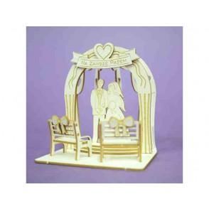 Izrezki, 3D, Pergola in poročni par